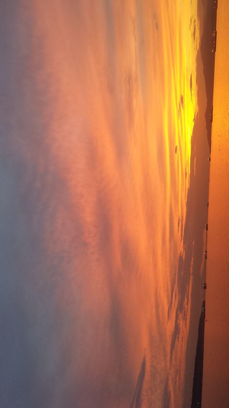 My heart pumps watching the amazing sunset at English Bay!