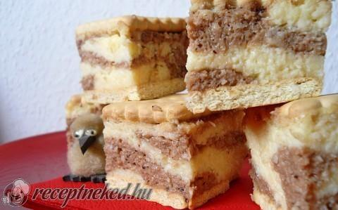 Kókuszos márványos kekszes krémes recept fotóval