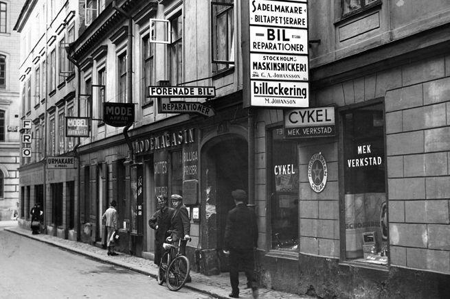 Beridarbansgatan i Gamla klara | Stockholm 1954