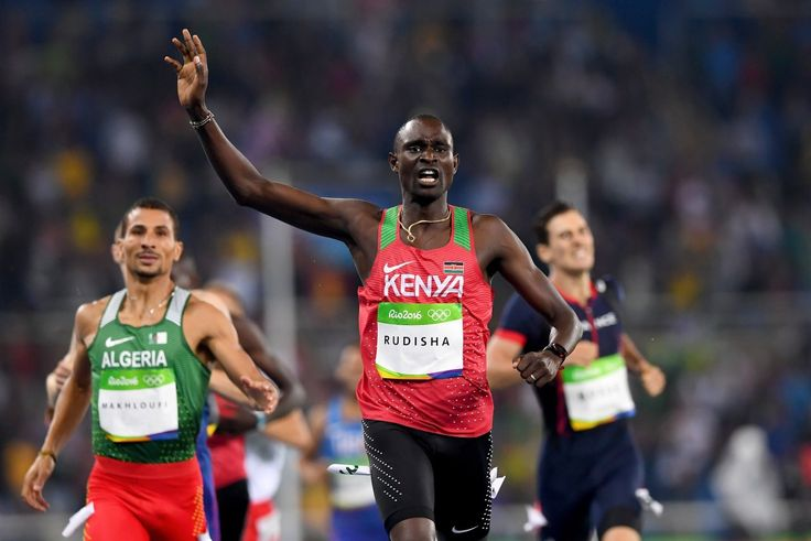 David Rudisha (Kenya) wins gold in 800 Meters