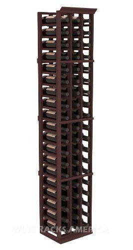 "Five Star Series: 3 Column 57 Bottle Standard Wine Cellar Rack in Redwood with Walnut Stain by Wine Racks America®. $305.43. Made from eco-friendly wood sources in sustainable forests. 3 ¾"" wide cubicles for bottle access.. Bottle capacity: 57 bottles (750ml). Industry 1-1/2"" toe-kick keeps your wine off the floor.. Choose From either Pine, Redwood, or Mahogany along with optional Industry Leading Quality Eco-Friendly Stains Paired with an Immaculate Satin Finish. E..."