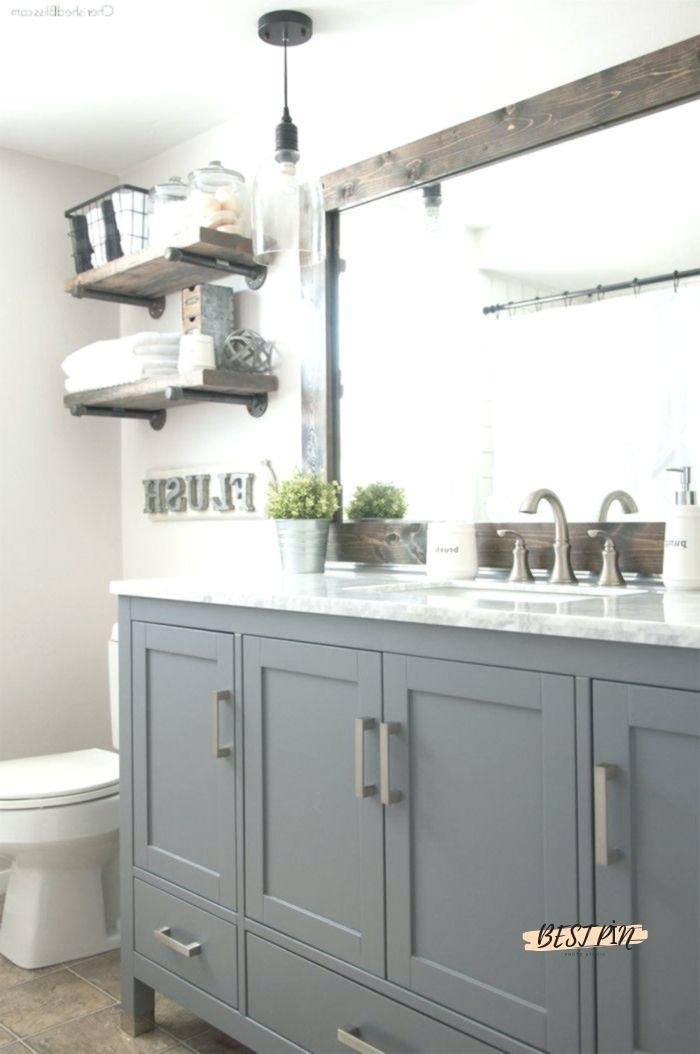 Industrial Farmhouse Bathroom Reveal Farmhouse Bathroom Decor Modern Farmhouse Bathroom Bathroom Renovation Diy