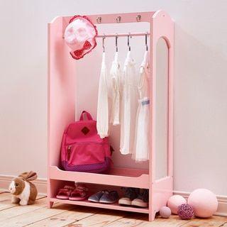 Teamson Kids' Windsor Pink MDF Dress-up Unit with Hooks - 19869926 - Overstock - Big Discounts on Teamson Kids' Dressers - Mobile