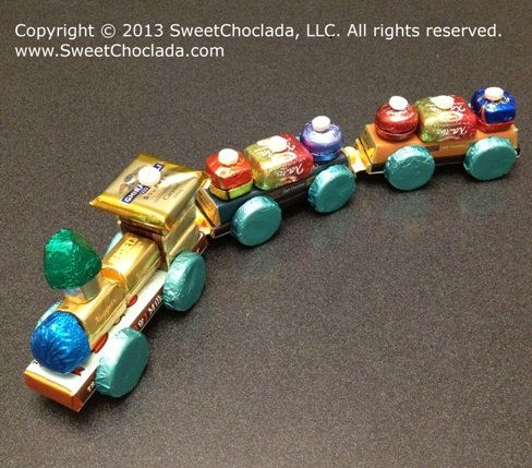 Gift Train 18 long with decorated Chocolate Candy by SweetChoclada, $47.99