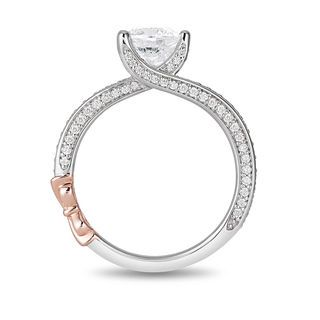 Limited Edition Enchanted Disney Snow White 1-1/2 CT. T.W. Diamond Bow Engagement Ring in 14K Two-Tone Gold | Engagement Rings | Wedding | Zales