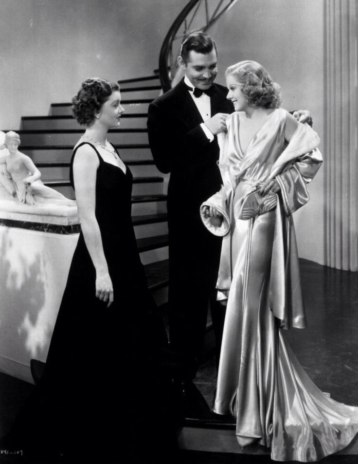 "Myrna Loy, Clark Gable and Jean Harlow in ""Wife vs. Secretary"""