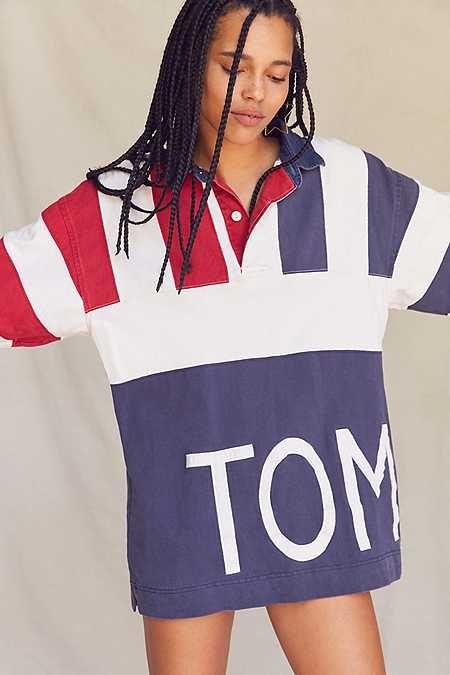 Vintage Tommy Hilfiger '90s Oversized Colorblocked Rugby Shirt