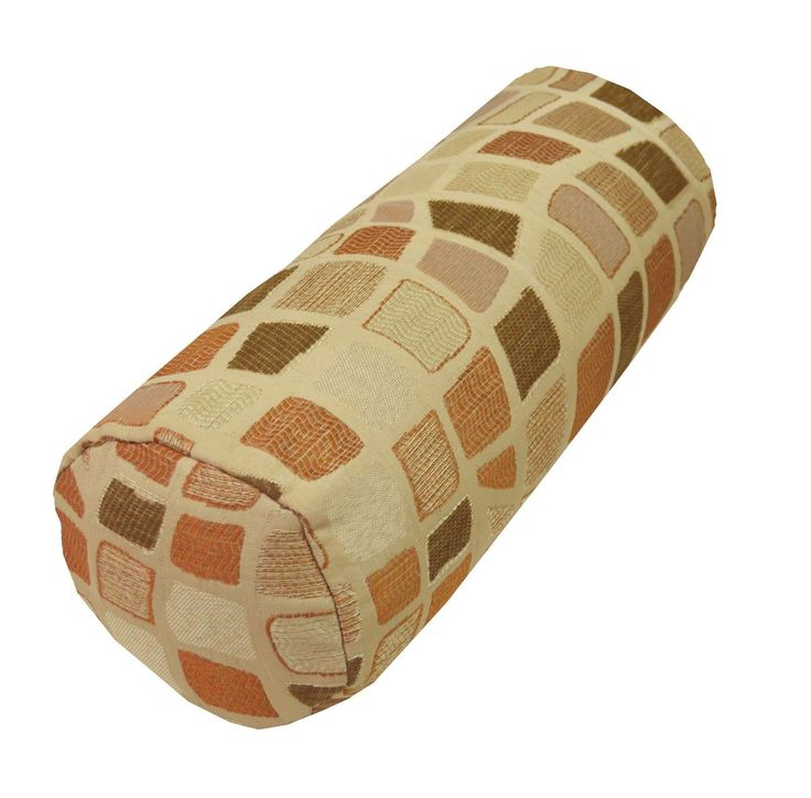 Wf03G Beige Brown Wave Check Stone Throw Bolster Cover Yoga Neck Roll Casesize