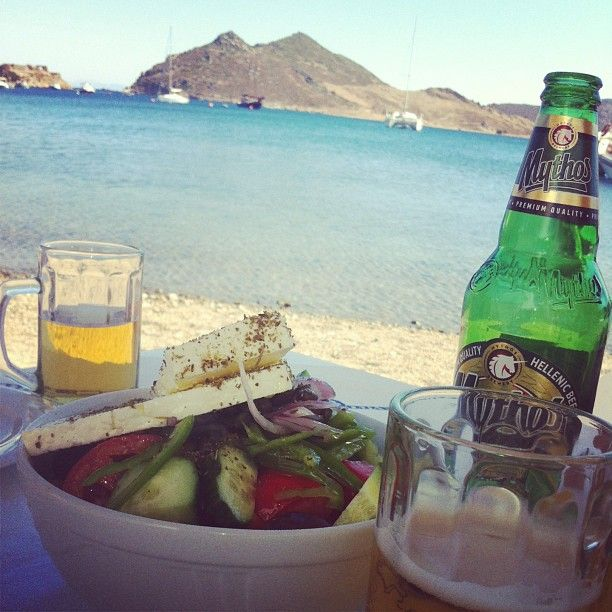 A Greek salad with a great view, can you imagine a better way to spend an afternoon?  Thank you so much @elacindoruk for the inspiring photo from Patmos Aktis Suites & Spa! http://instagram.com/p/d4R1kxSp6L/