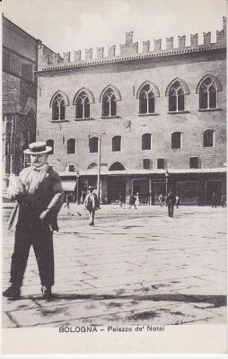 Al Trust delle Cartoline Postcard - Bologna - Palazzo de' Notai - Animata -8 172 c1909