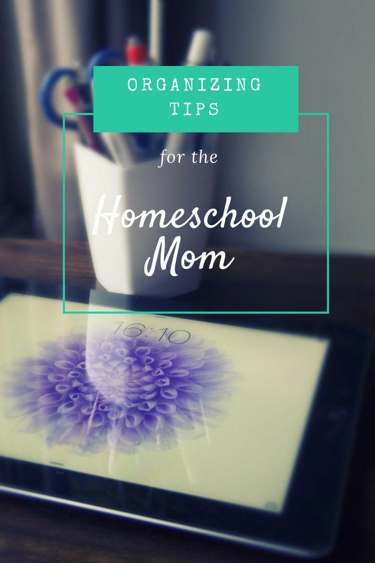 Organizing tips for the homeschool mom | #homeschool #homeschooling #homeschoolmom