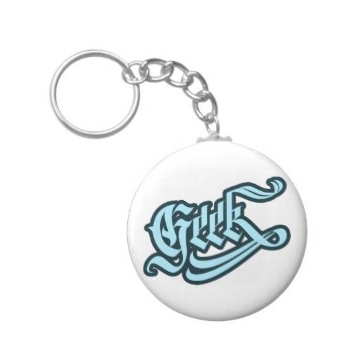 Geek Keychain #geek #lettering #LetterHype