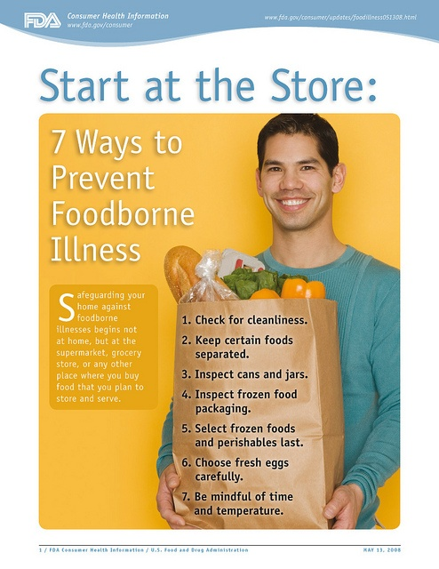 Safe food handling practices that help prevent foodborne illness. Read this FDA Consumer Update: www.fda.gov/ForConsumers/ConsumerUpdates/ucm094535.htm     Healthy Living means Healthy Eating