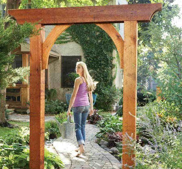 Садовая арка своими руками фото фото