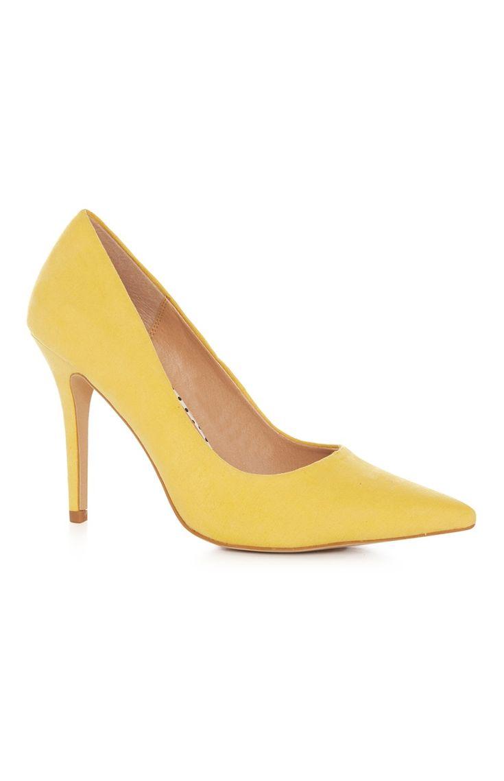 Primark - Yellow Suedette Point Stiletto