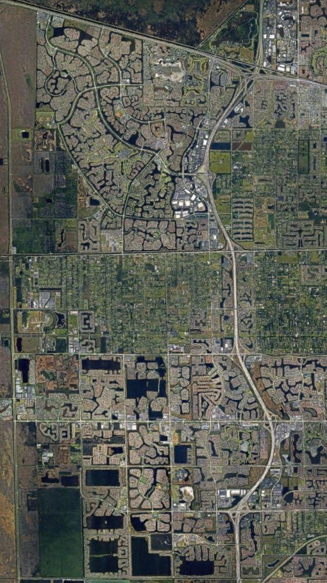 Satelital. From the Air. Weston,West Miami,Florida