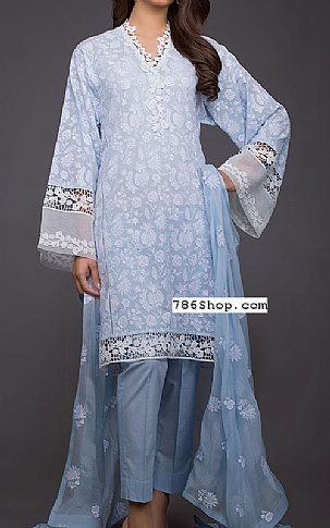6850c2f470 Baby Blue Swiss Lawn Suit | Buy Bareeze Pakistani Dresses and Clothing  online in USA, UK