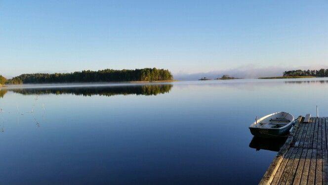 Lovely morning in lake Saimaa