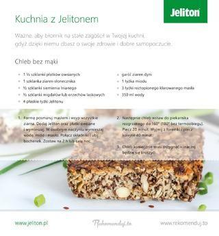Stosowanie Jelitonu nie musi być nudne! Jeliton to preparat dla każdego, kto chce żyć zdrowo. Co ważne - Jeliton to naturalny błonnik, który możesz przyjmować w trakcie codziennych posiłków. Przedstawiamy przepis na chleb. Nam zasmakował, dlatego chętnie polecamy go również Tobie! Więcej informacji o suplemencie diety Jeliton na www.jeliton.pl #jeliton #rekomendujto #buzzmedia #AmbasadorJeliton