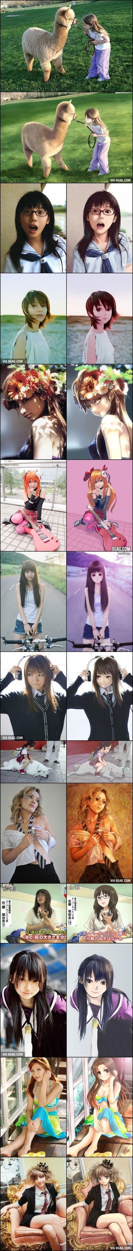 Real Life vs. Anime Girls