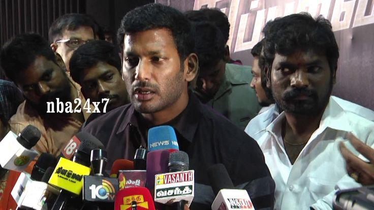 Actor Vishal    Supporting Rajinikanth  or Kamal Haasan      nba 24x7
