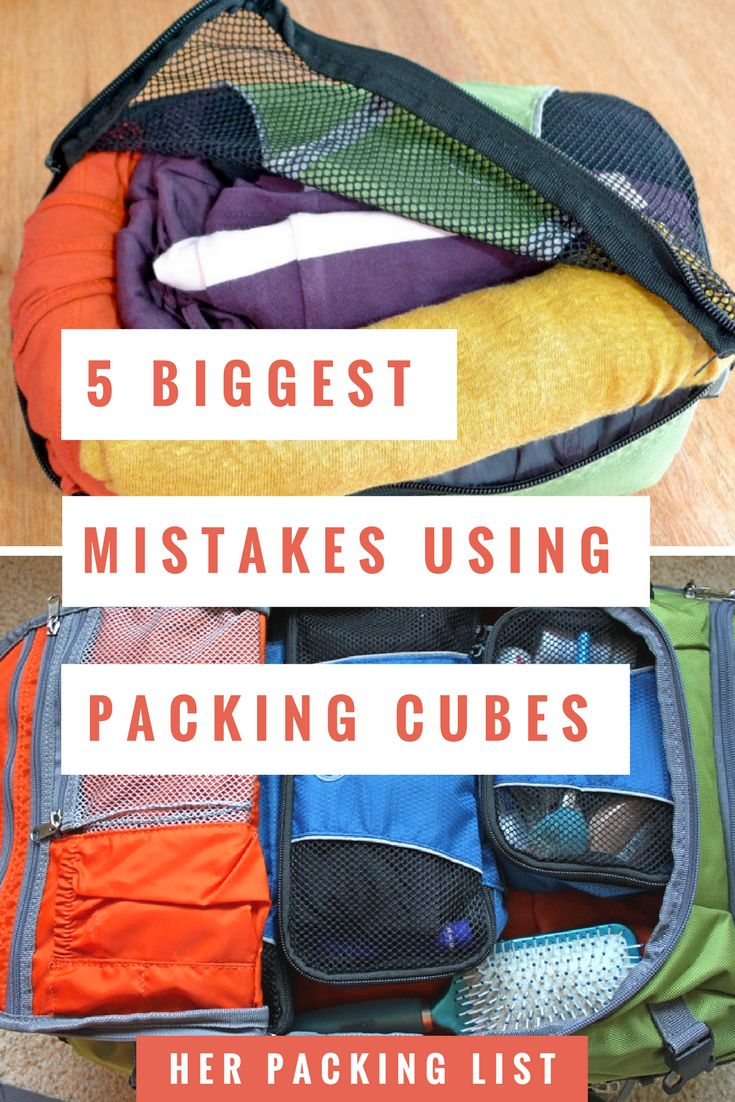 You can organize your luggage belongings once and for all when you use packing cubes. Pack happy, organized, and with less drama with the help of packing cubes.