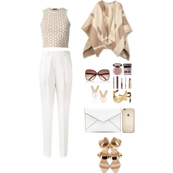 A fashion look from January 2015 featuring Alexander McQueen tops, Johnstons and Victoria Beckham pants. Browse and shop related looks.