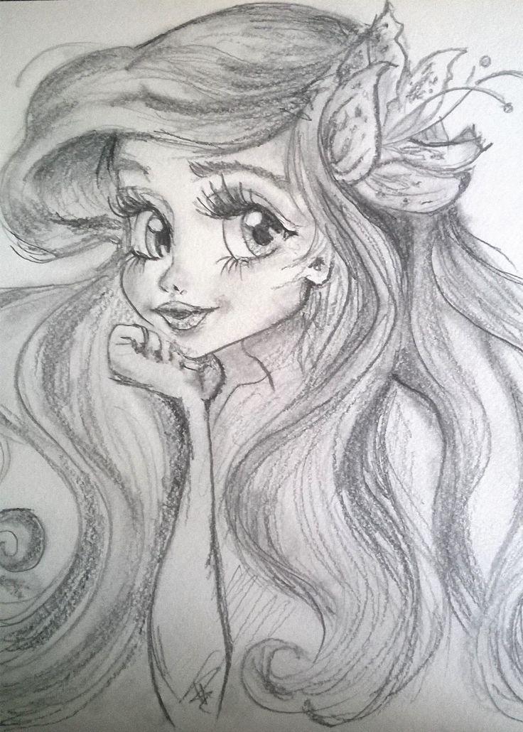 Ariel/pencil drawing