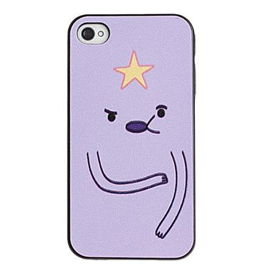 Cute Graphic Pattern PC Hard Case with Black Frame for iPhone 4/4S – BRL R$ 7,92