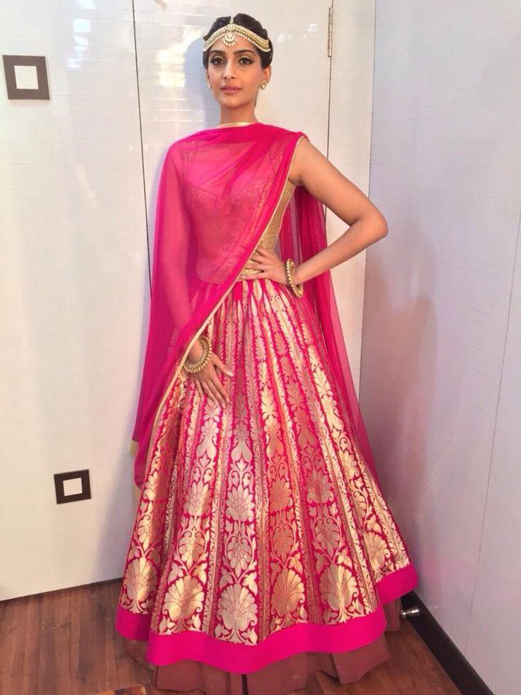Sonam Kapoor in Pink Lehenga