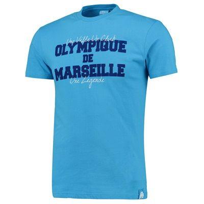 Olympique de Marseille One City One Club One Legend T-Shirt - Blue