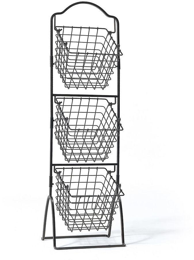 Gourmet Basics General Store 3-Tier Market Storage Basket Stand