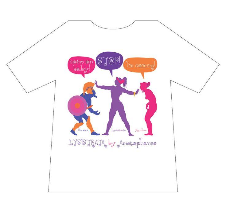 Greek culture T-shirt, Lysistrata, T-logos, Ancient Greece, T-shirts, mediterraneo editions, www.mediterraneo.gr
