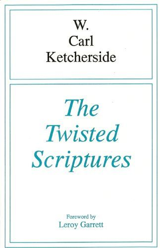 The Twisted Scriptures:   This is a book of protest! Its author is deeply opposed to the division of God's family over human opinions and deductions from the sacred scriptures. He holds that any use of the written word to defeat the purpose of the Living Word is abuse and misuse, and can only come by twisting the divine revelation.<br /><br />In the book you will be treated to a candid and careful examination of passages which have been used to sanction, condone or justify fragmentatio...