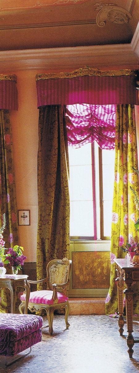 .the valances are horrid as is the lacy blind BUT the idea of different side panels in complimentary colors is great