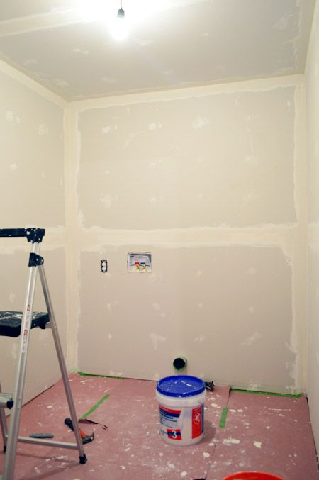 Drywall Taping, Mudding, & Sanding – Oh My! | Young House Love, very detailed on process with great success