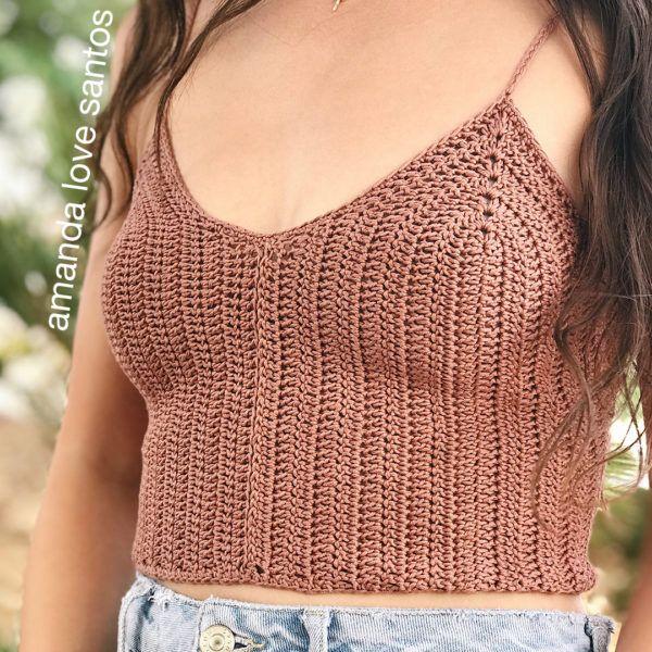 Bikini crop top sun top crochet