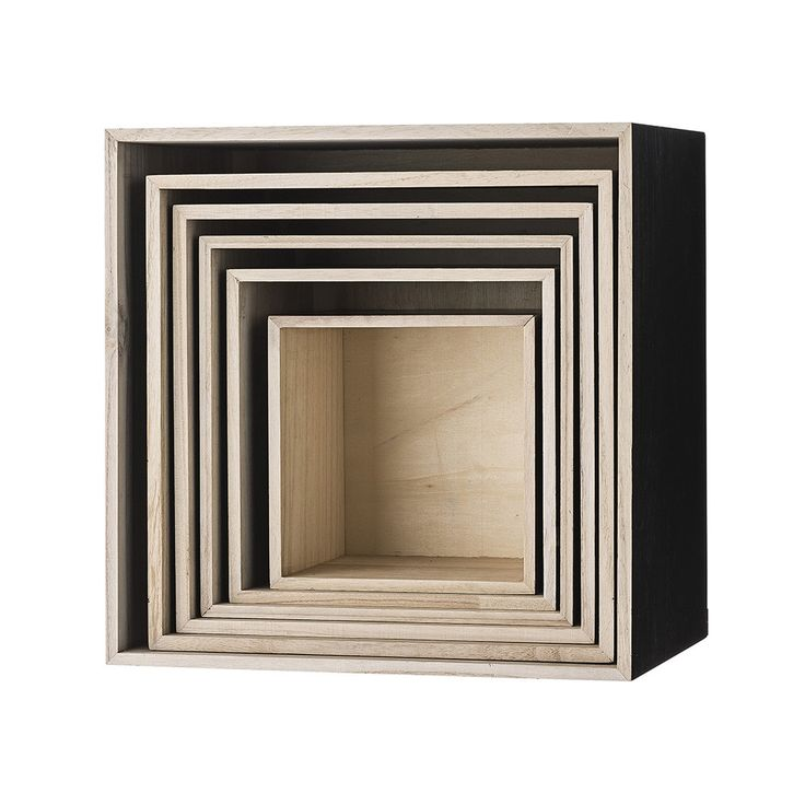 Discover the Bloomingville Wooden Display Boxes - Set of 6 at Amara