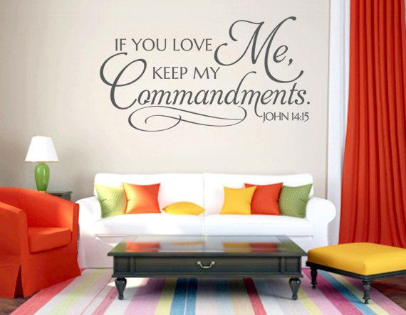 Christian Wall Decal . If You Love Me CODE By WeAreVinylDesigns Part 69