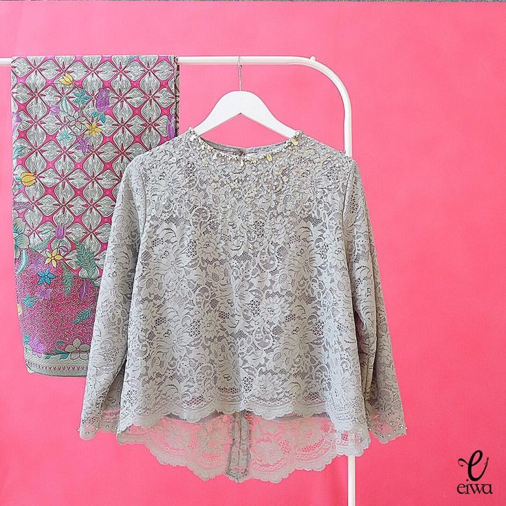"384 Likes, 152 Comments - EIWA - kebaya brokat bajubodo (@eiwaonline) on Instagram: ""SOLD OUT TOP0091 (grey) Size Xs to XXL Front Length : 50cm Back Length : 65cm Sleeve Length :…"""