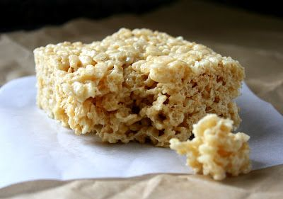 Salted brown butter crispy treats. It is a delicious subtle change ...