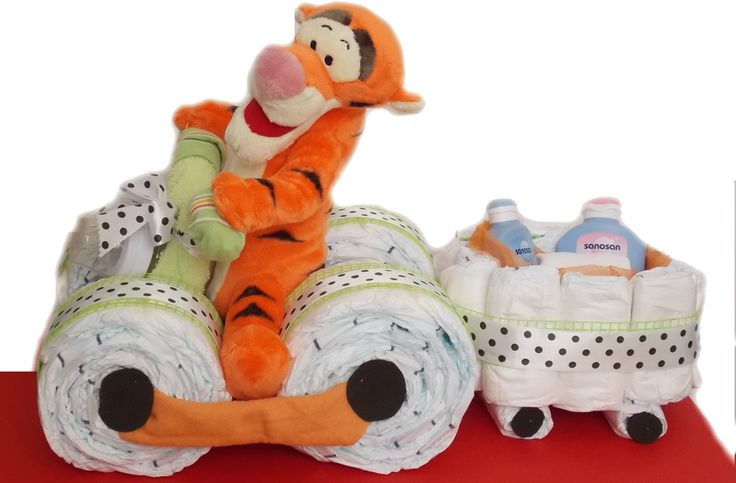 Atv din scutece cu tigru www.venellagift.ro