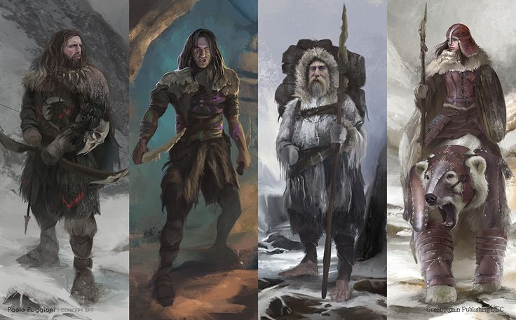 Game Of Thrones some Game Of Thrones RPG Wildling design sheet done by Paolo Puggioni