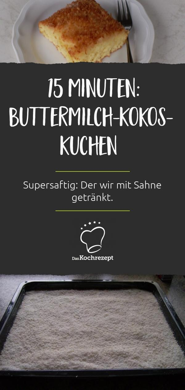 Buttermilch-Kokos-Kuchen vom Blech – dasKochrezept.de