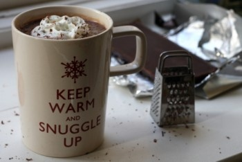 Salted Caramel Vodka Hot Chocolate ~ via @treataday ~ #chocolateaters #pinterest