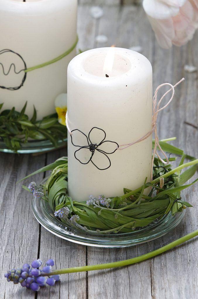 Kerzen mit Draht-Deko (Foto: Ichters/Stiefvatter MSL)