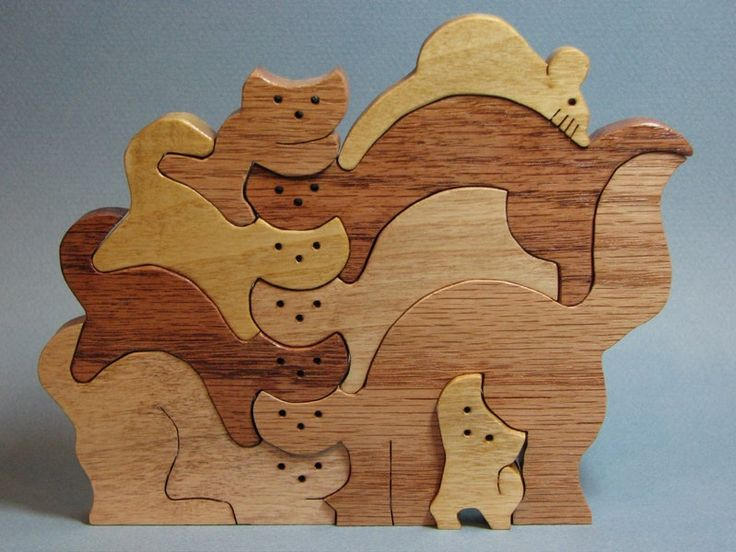 Deer Puzzles For Scroll Saw Here Are The Cats Assembled