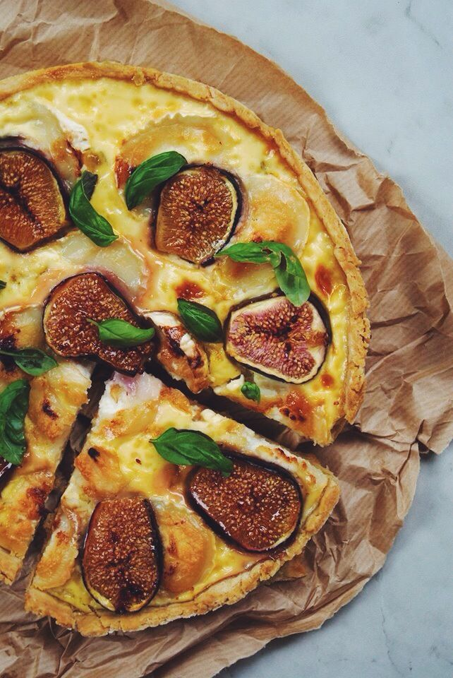 Quiche with goat cheese, figs & honey. Recipe in French, but simple enough to figure out.