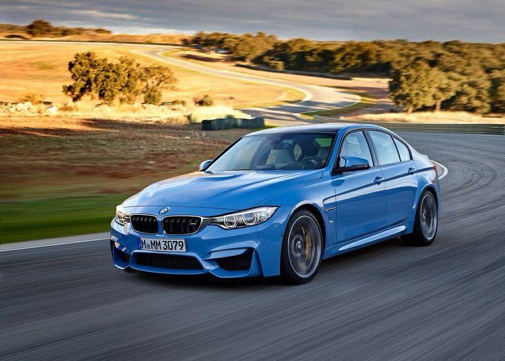 BMW M3 Sedan (2015) in electric blue. BMW Pinterest