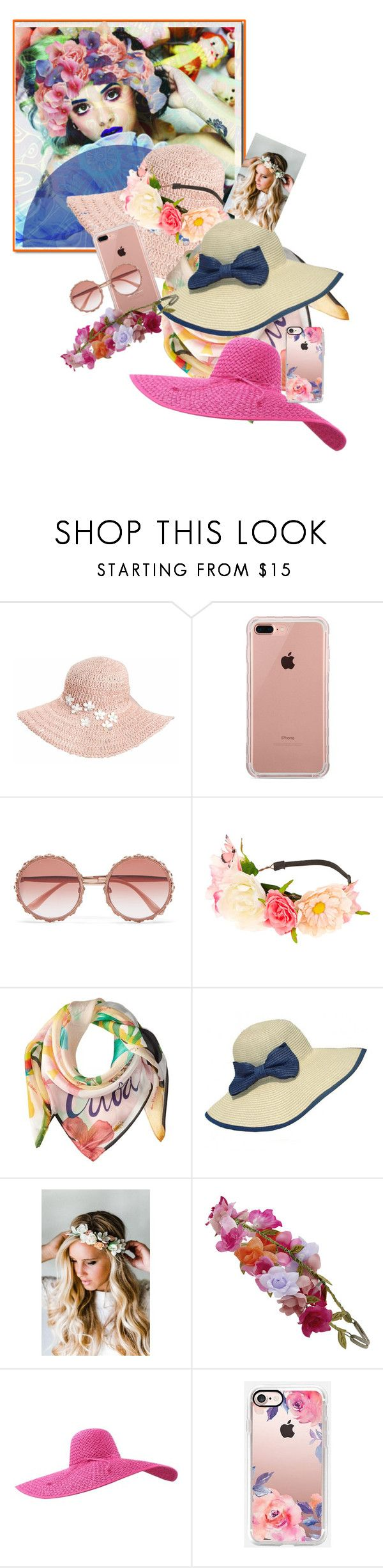 """Geen titel #33715"" by lizmuller ❤ liked on Polyvore featuring Dorfman Pacific, Belkin, Dolce&Gabbana, claire's, Echo Design, WithChic, Emily Rose Flower Crowns, Accessorize and Casetify"